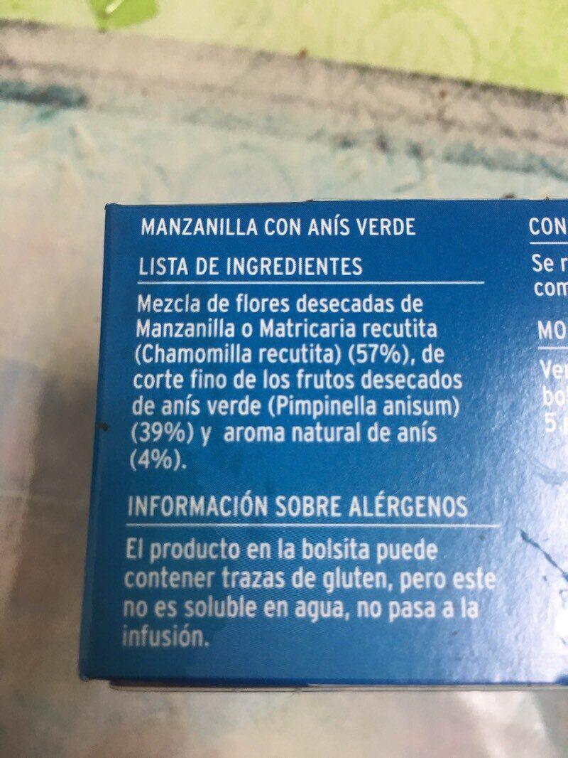 Manzanilla - Ingrediënten