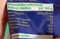 Mozzarella Fresca - Informació nutricional - es