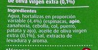 Caldo de Verduras - Ingredientes