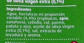 Caldo de Verduras - Ingredientes - es