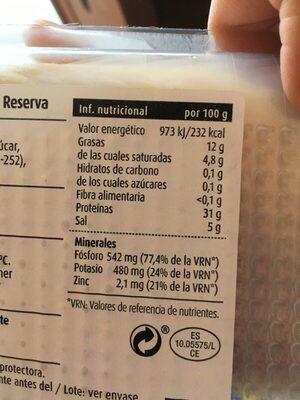 jamó serrano hembra - Voedingswaarden