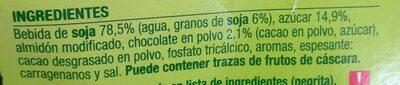 Soja chocolate - Ingrédients - es