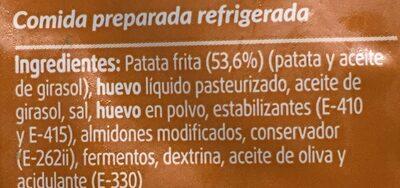 Tortilla de patata - Ingredients