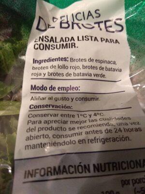 Delicias de Brotes - Ingrédients - es