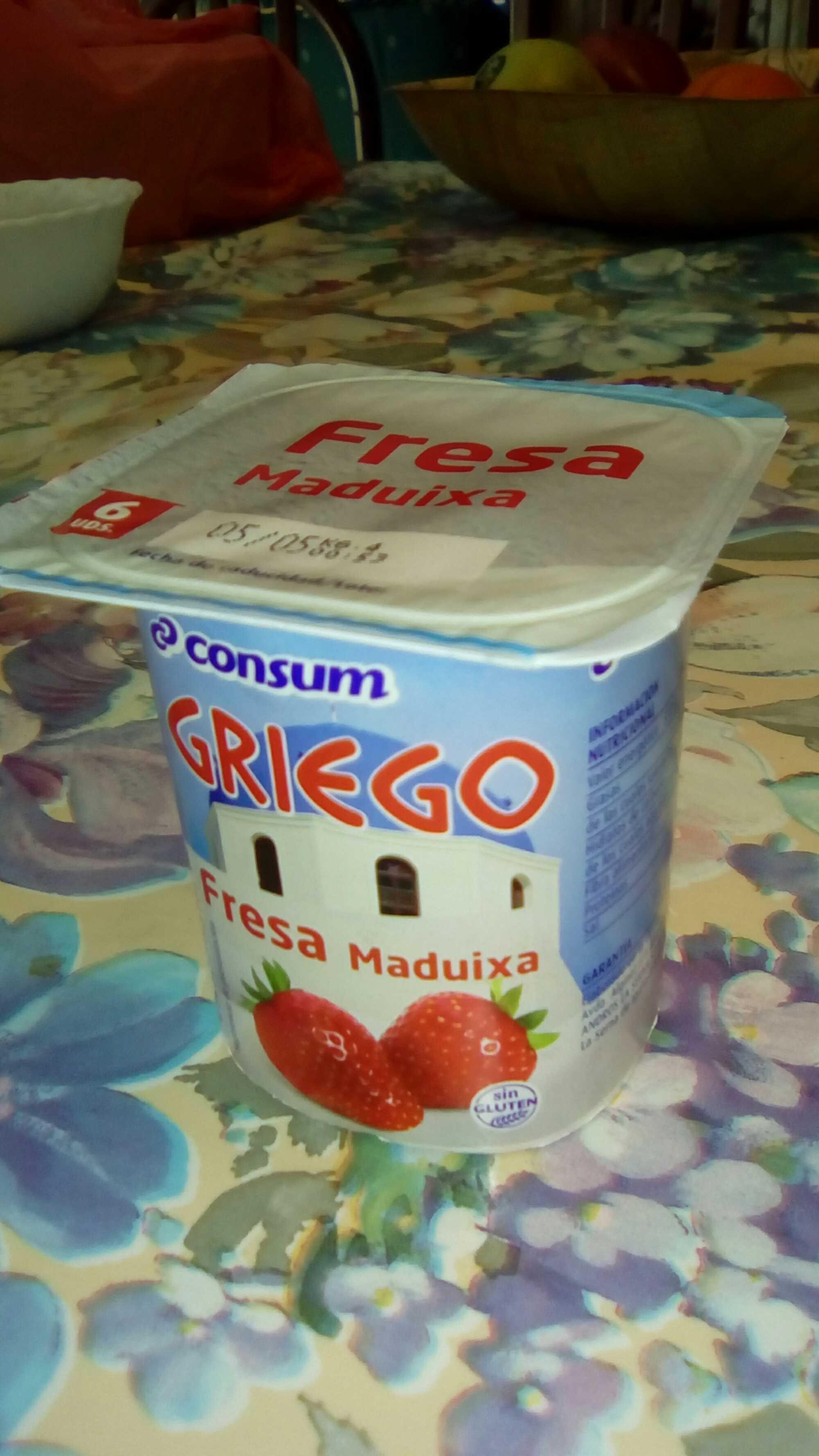 Griego fresa - Producto