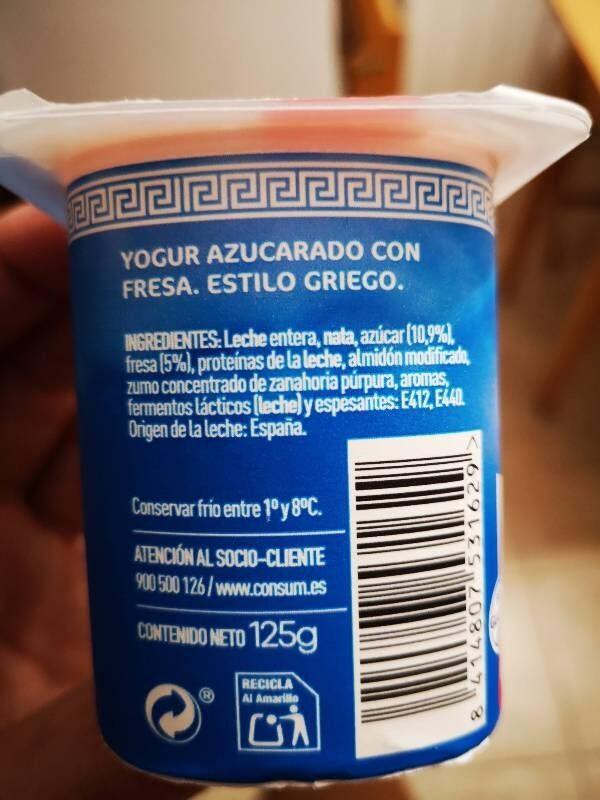 Griego fresa - Ingredientes