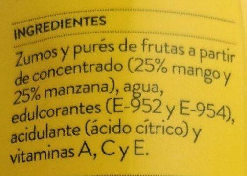 Néctar light de mango y manzana - Ingredientes - es