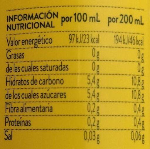 Néctar light de mango y manzana - Información nutricional - es