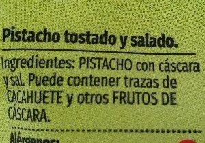 Pistachos tostados sal consum - Ingredientes - es