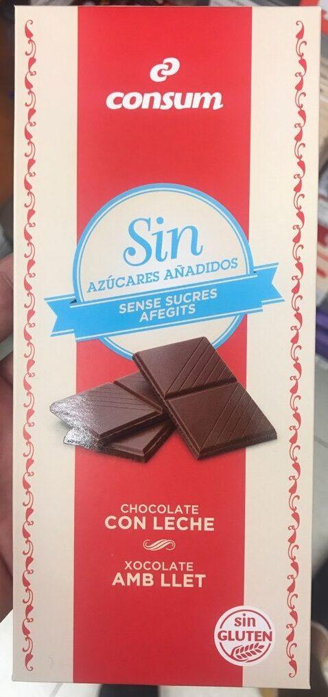 Chocolate con leche sin azucares anadidos - Producto - es