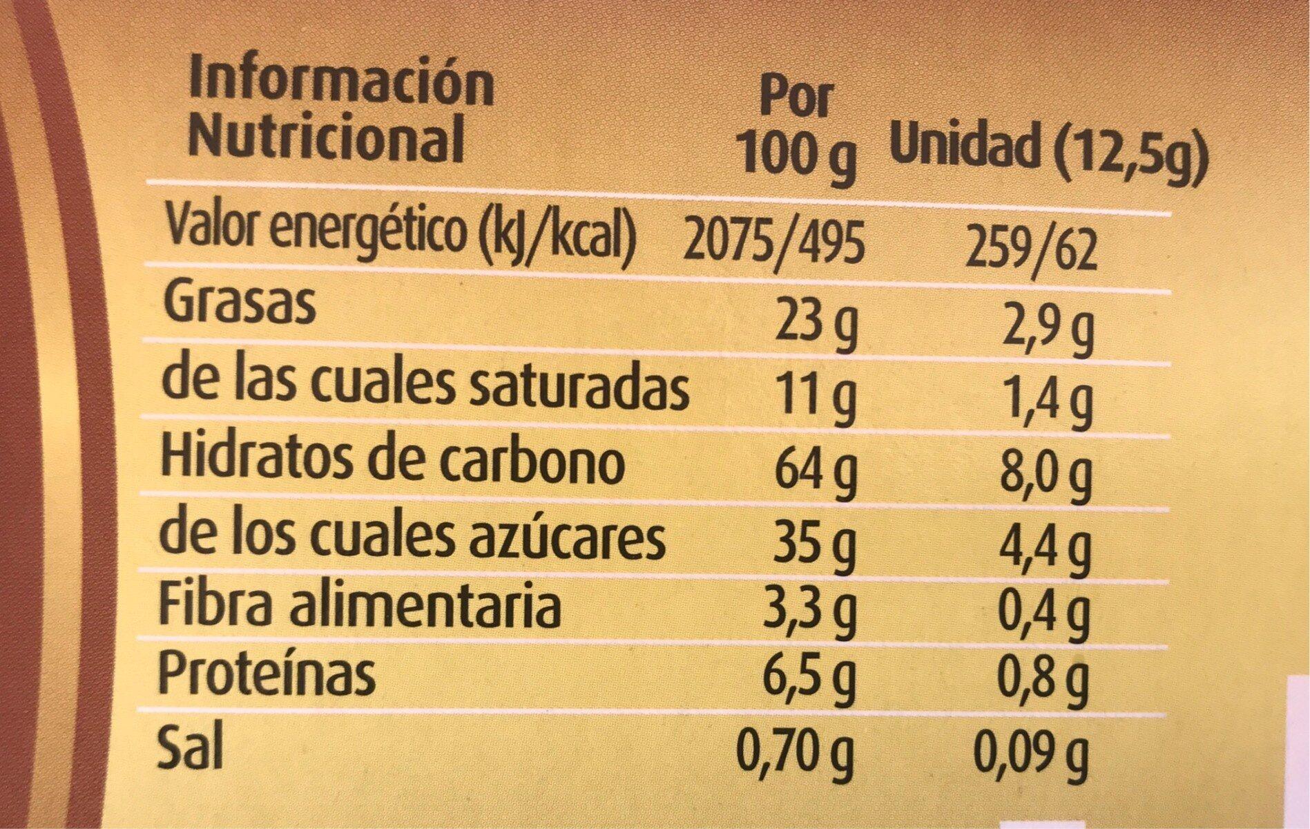 Galletas con chocolate negro - Nutrition facts - es