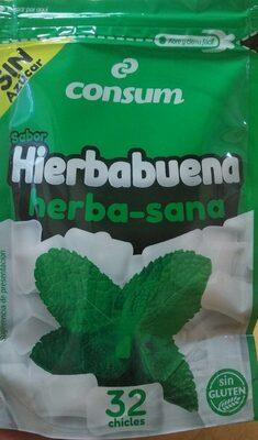 Chicle sabor hierbabuena