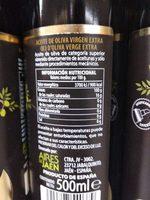 Aceite de oliva virgen extra primera cosecha - Voedingswaarden