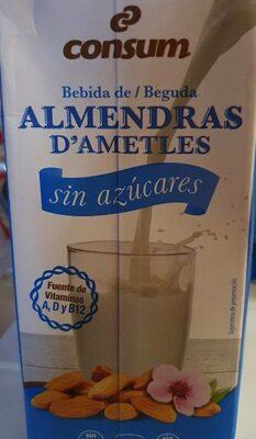 Bebida de almendras sin azúcares - Product - es