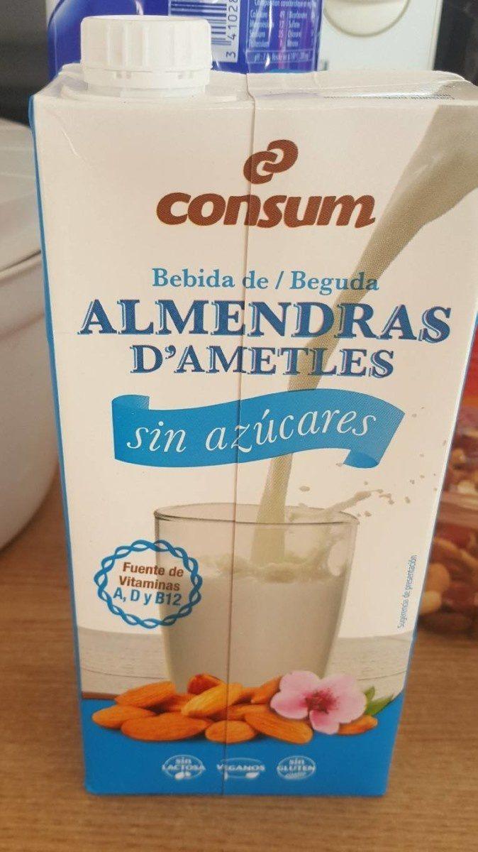 Bebida de almendras sin azúcares - Produit - fr