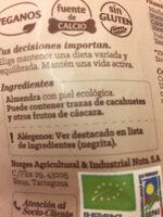 Almendras crudas con piel - Ingredientes - ca