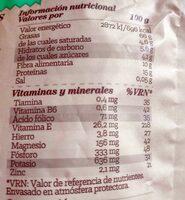 Avellanas tostadas ecológicas - Nutrition facts - es