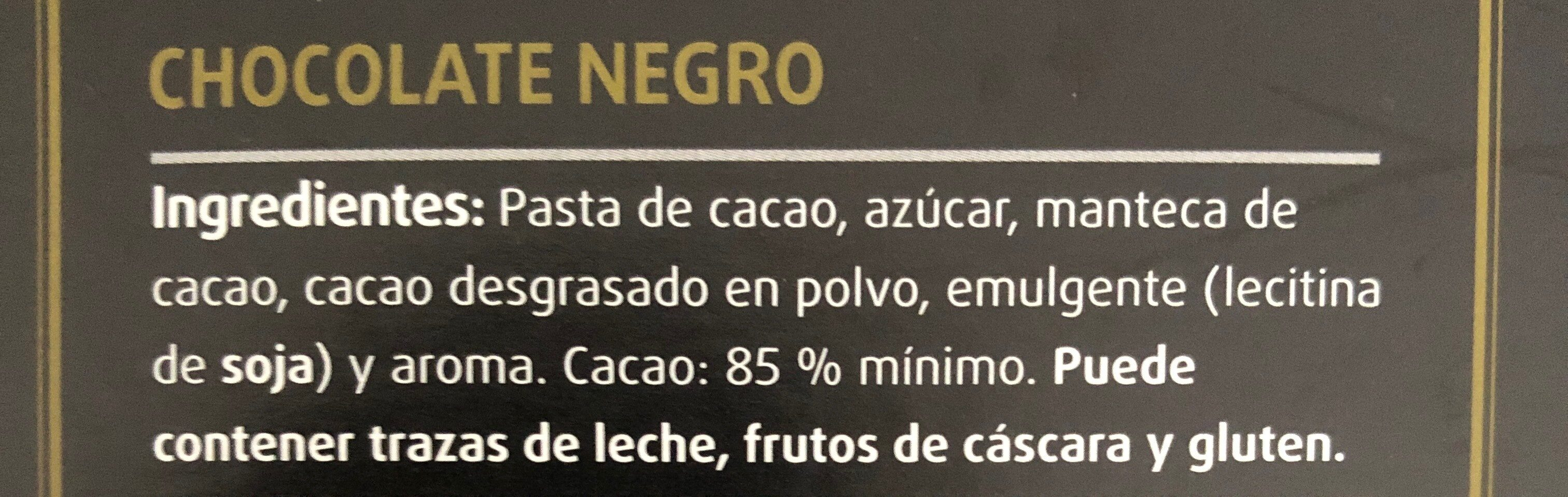 Chocolate negro - Ingredients - es