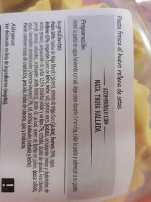 Tortellini Consum Setas