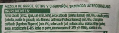 Risotto al funghi - Ingredients - es