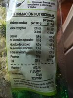 Brócoli al vañor - Nutrition facts