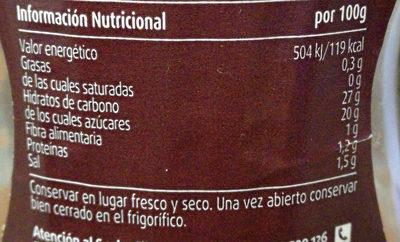 salsa BARBACOA - Informació nutricional