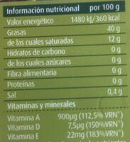 Margarina ligera con aceite de oliva - Informació nutricional - es