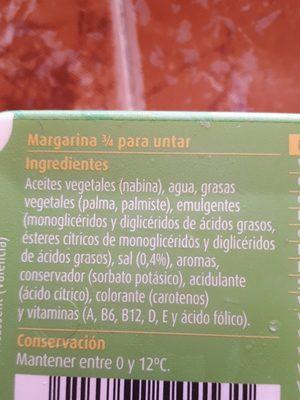 Margarina 3/4 - Ingredients