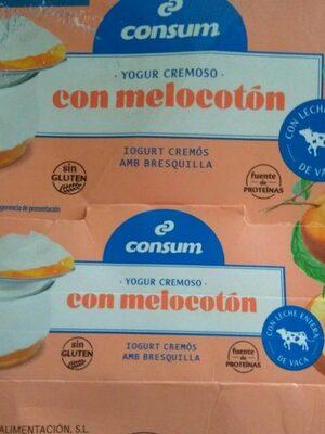 Yogur cremoso con melocotón