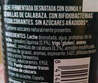 Bífidus con quinoa y semillas de calabaza - Ingredients - es