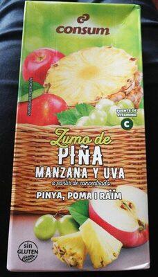 Zumo piña manzana y uva