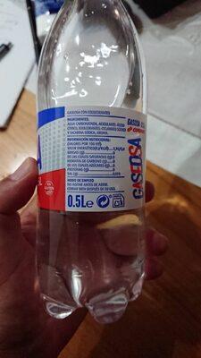 Gaseosa - Información nutricional - es
