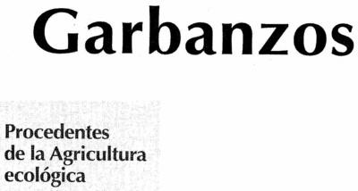 Garbanzos Tipo Castellano - Ingredientes