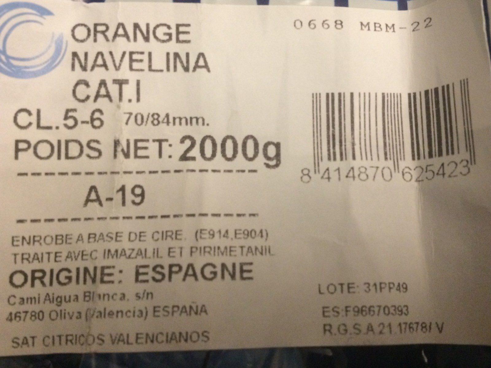 Oranges - Ingrédients - fr