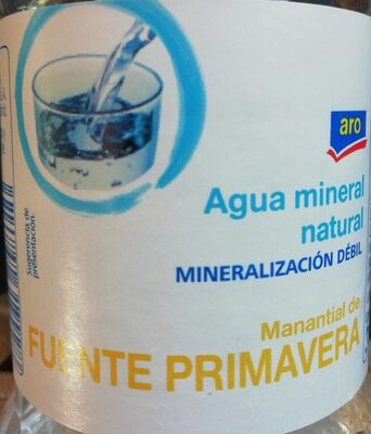 Agua mineral natural - Producto - es