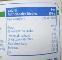 Lenteja cocida - Nutrition facts - es