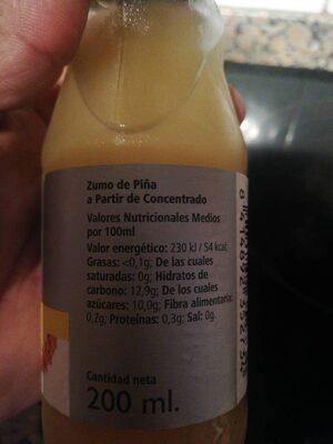 Zumo Piña Rioba - Nutrition facts