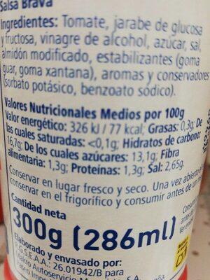 Salsa brava - Informations nutritionnelles - es