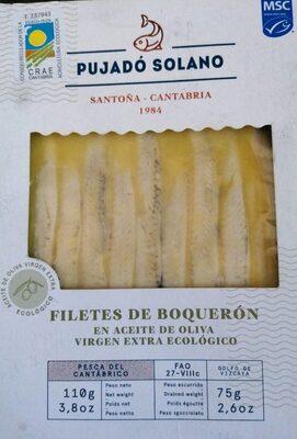 Filetes de boquerón en aceite de oliva virgen extra ecológico - Producto