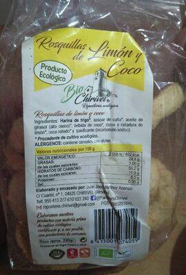 Rosquillas de limón y coco - Product
