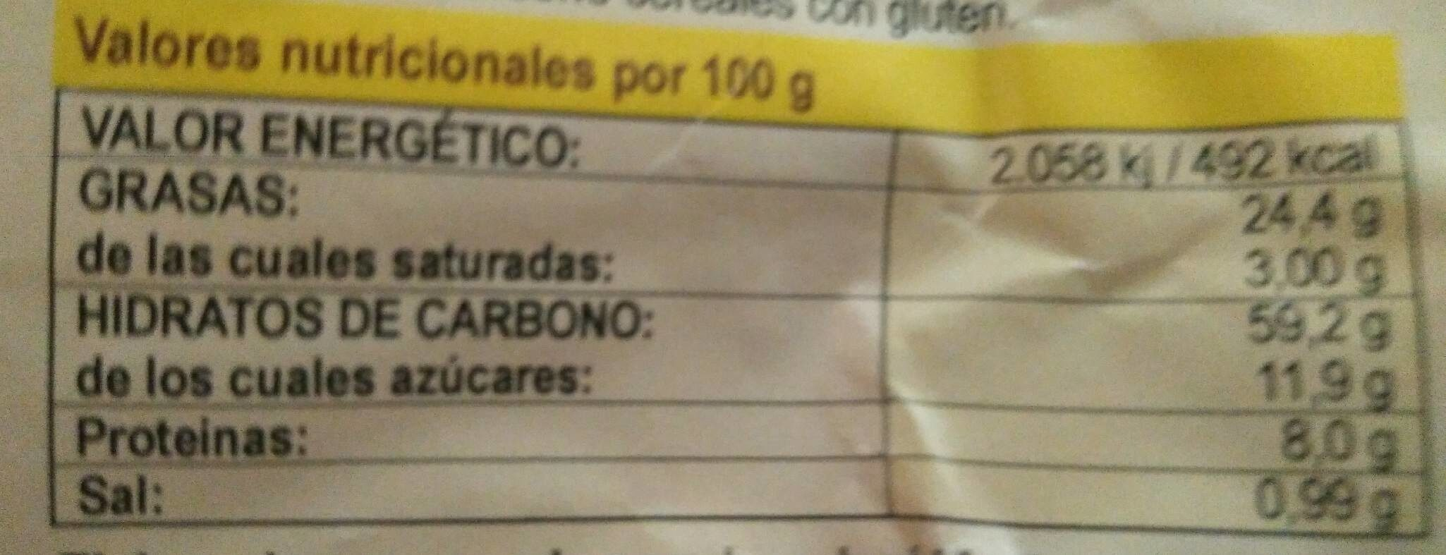 Rosquillas de limón y coco - Nutrition facts