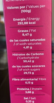 Cheesecake - Nutrition facts - es