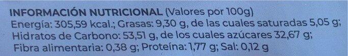 6 mochi coco - Informació nutricional - es