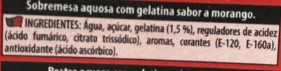 Royal Gelatina Sabor, Fresa - Ingrediënten