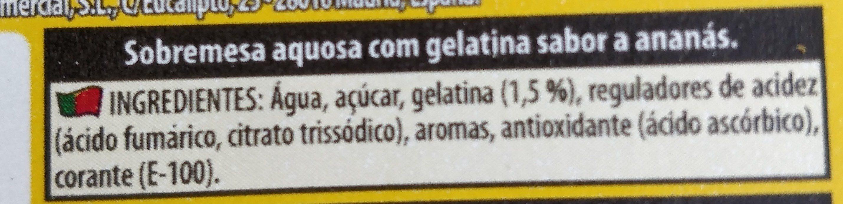 Gelatina Sabor Ananás - Ingrédients - fr