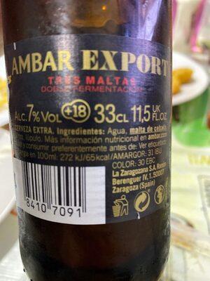 Ambar Export - Información nutricional - es