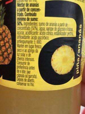 Zumo de pina/ananas VIDA - Ingrediënten