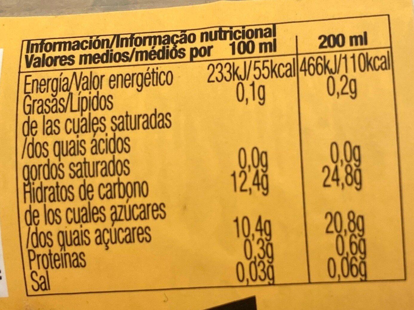 Vida melocotón - Información nutricional - es