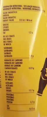 Cacaolat Original - Informations nutritionnelles