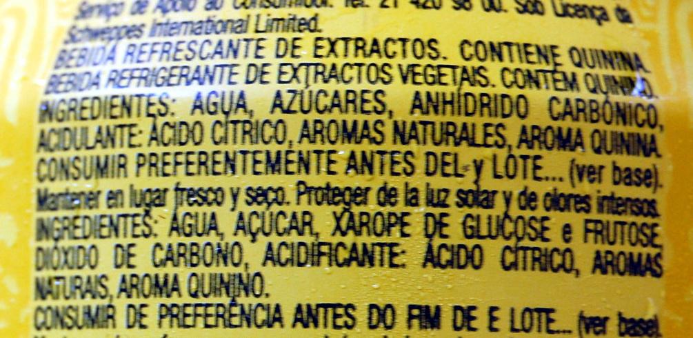 indian tonic - Ingrediënten